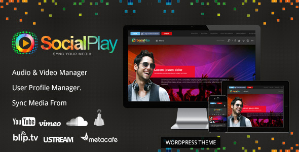 SocialPlay - Media Sharing WordPress Theme
