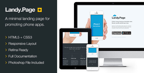 Landy.Page – Responsive Retina Landing Page