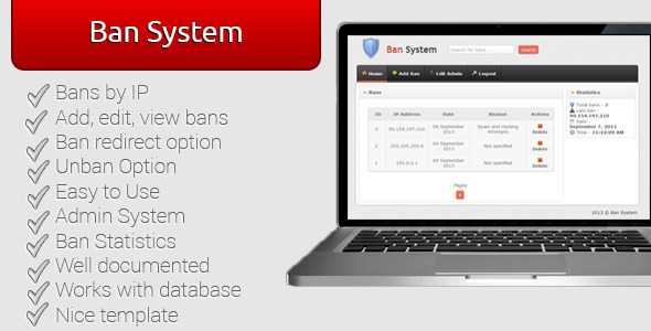 Ban System - CodeCanyon Item for Sale