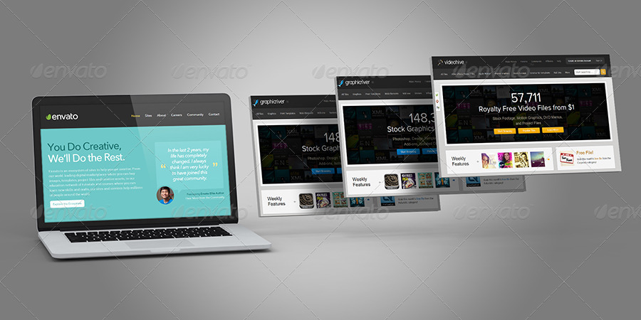 Laptop and Website Mock-ups by themedia | GraphicRiver
