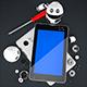 3D Robot. Tablet Computer Repair Concept - GraphicRiver Item for Sale