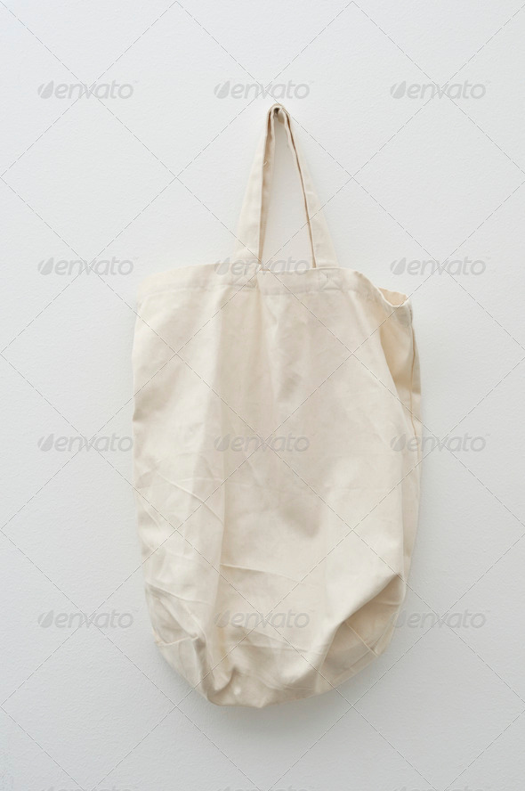 Canvas Shooping Bag - Stock Photo - Images