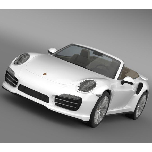 Porsche 911 Turbo Cabrio 2014 - 3DOcean Item for Sale