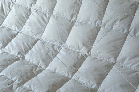 Detail of Down Comforter - Stock Photo - Images