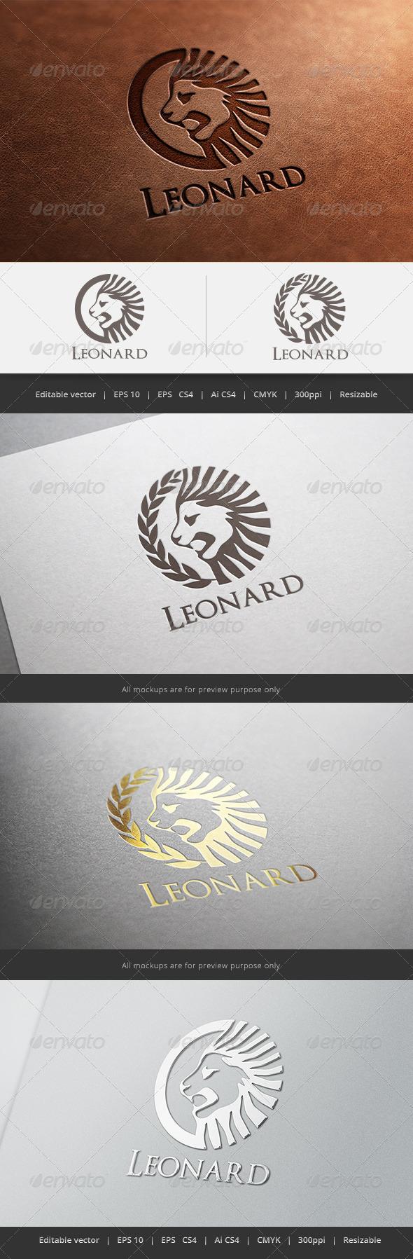 Leonard Lion Logo - Crests Logo Templates