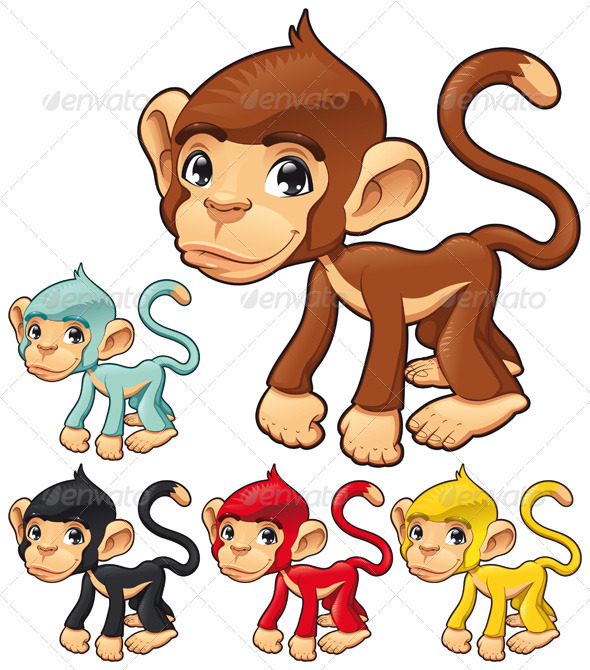 Funny monkey.  - Animals Characters