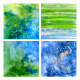 Underwater Beautiful Watercolor Ttextures - GraphicRiver Item for Sale