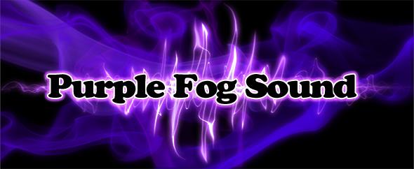 Purple fog logo  audiojungle profilepage