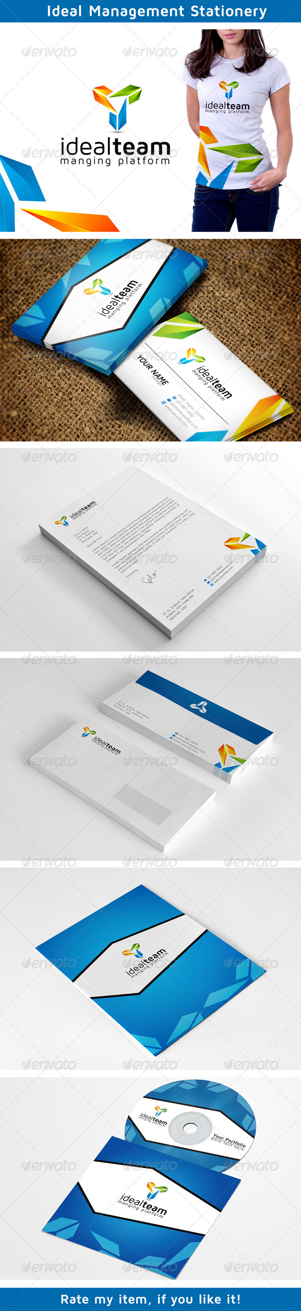 Colors Management Stationery - Print Templates