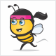 Fitness Bee Logo - GraphicRiver Item for Sale