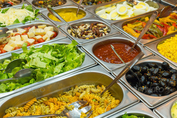Colourful buffet - Stock Photo - Images