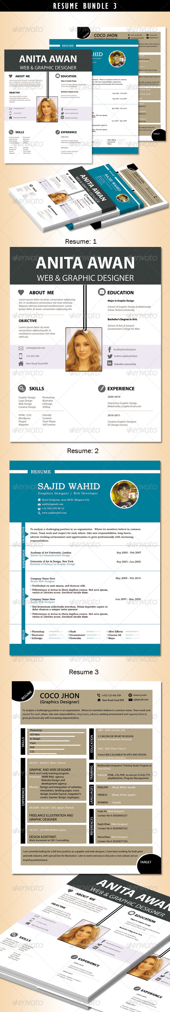 Resume Bundle no.3 - Resumes Stationery