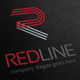 Red Line Letter R Logo - GraphicRiver Item for Sale