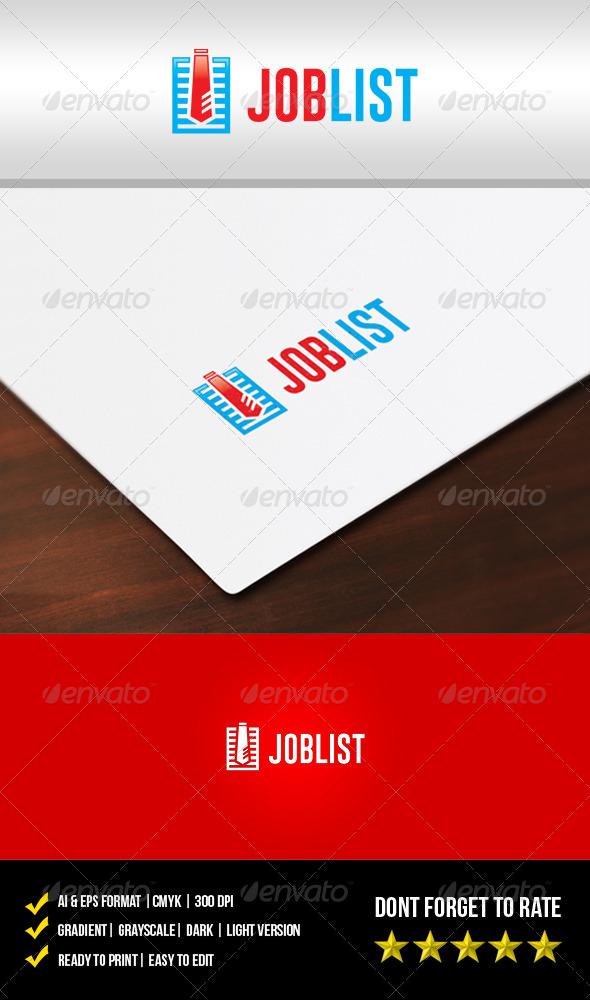 Job List Logo - Objects Logo Templates