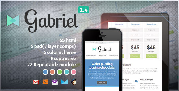 Gabriel - Responsive E-mail Template - Newsletters Email Templates