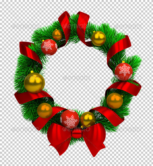 Christmas wreath - Objects 3D Renders