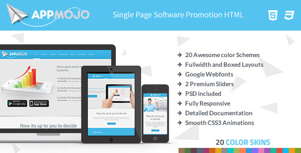 App Mojo – Single Page Software Promotion HTML