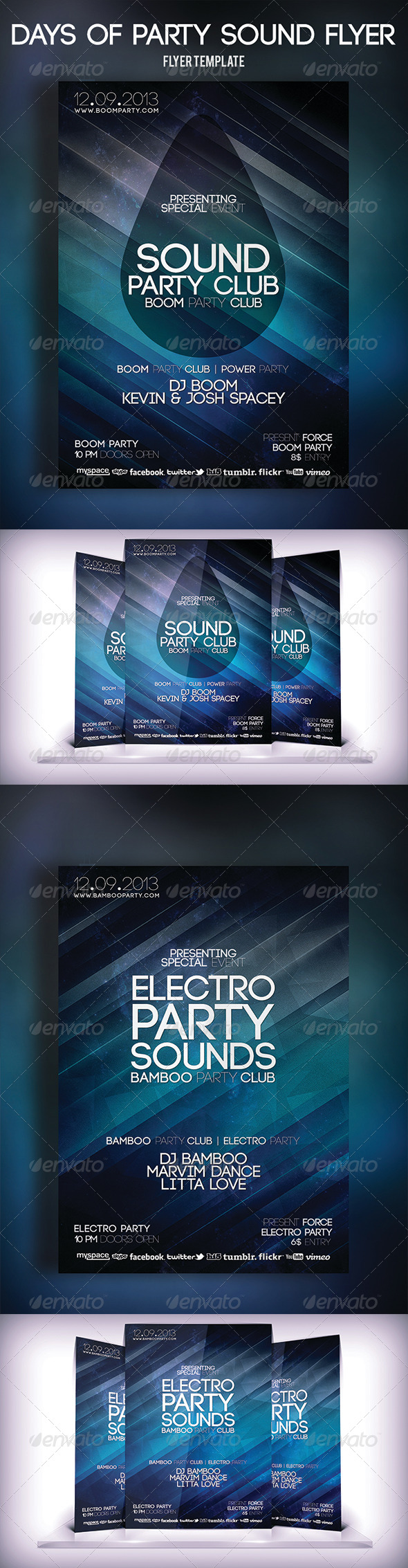 Days of Party Sound Flyer - Clubs & Parties Events