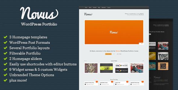Free Download Novus - WordPress Portfolio Nulled Latest Version