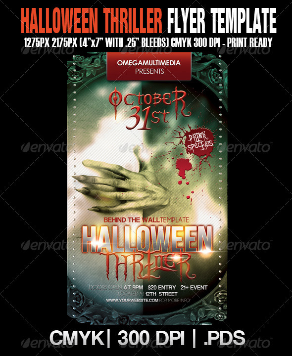 The Haunted Thriller Template - Clubs & Parties Events