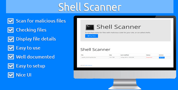 Shell Scanner - CodeCanyon Item for Sale