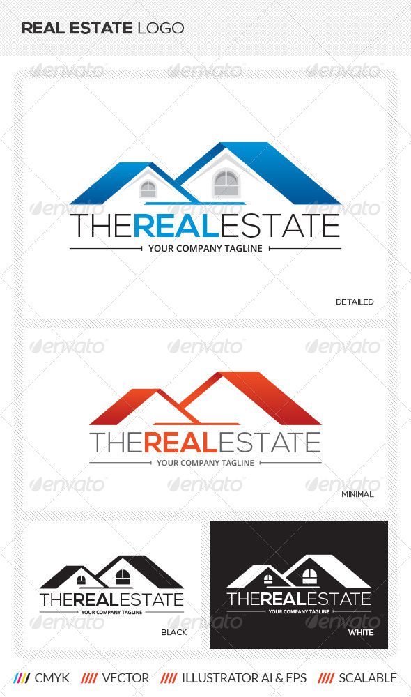 Real Estate Logo Template by mengloong | GraphicRiver