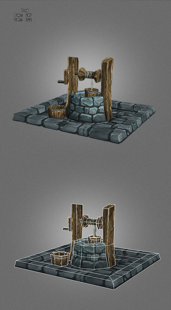 low poly well_2 - 3DOcean Item for Sale