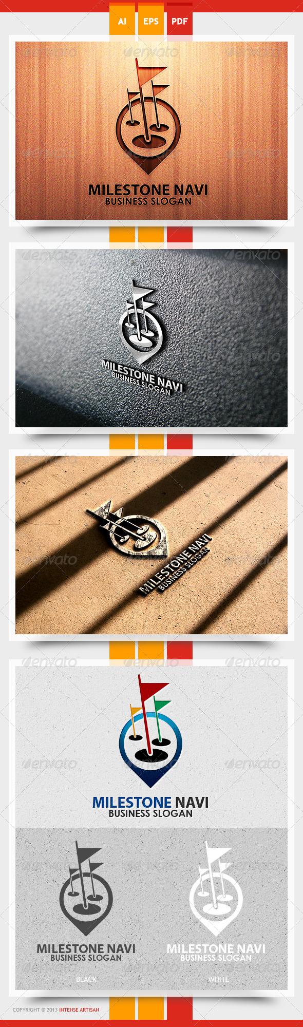 Milestone Navi Logo Template - Objects Logo Templates