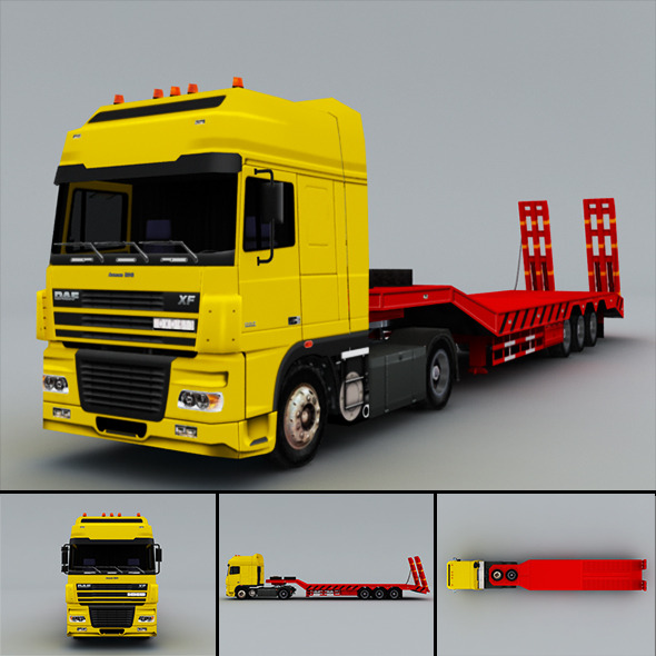 DAF FX  (truck) Low-Poly - 3DOcean Item for Sale