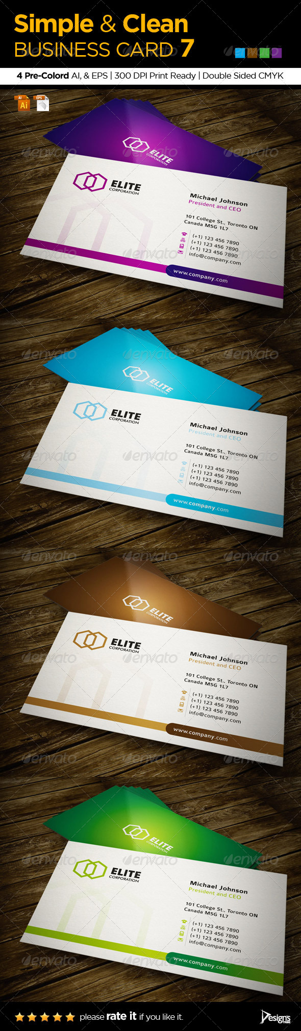 Simple and Clean Business Card 7 - Business Cards Print Templates