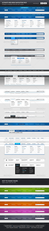 Ultimate Web Menu Navigation Pack - Navigation Bars Web Elements