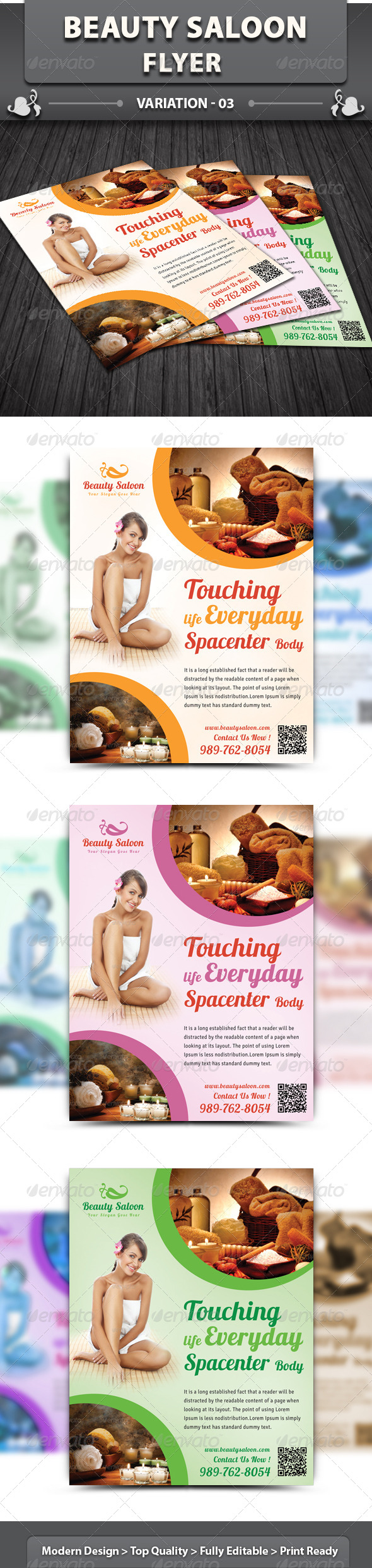 Spa & Beauty Saloon Flyer | Volume 3 - Corporate Flyers