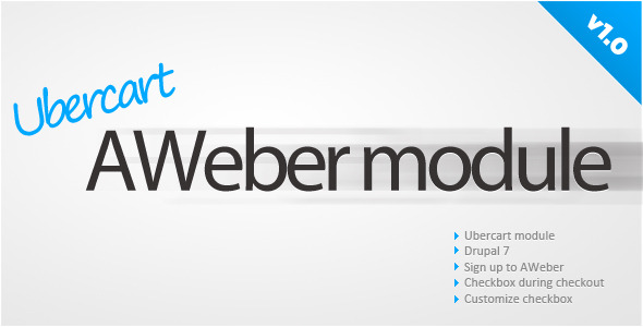 Download Ubercart AWeber sign up nulled version