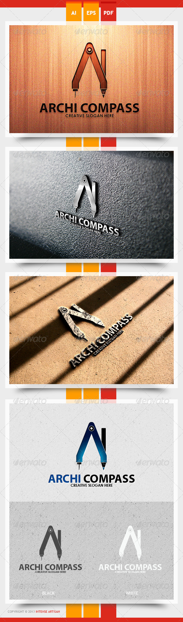 Archi Compass Logo Template - Objects Logo Templates