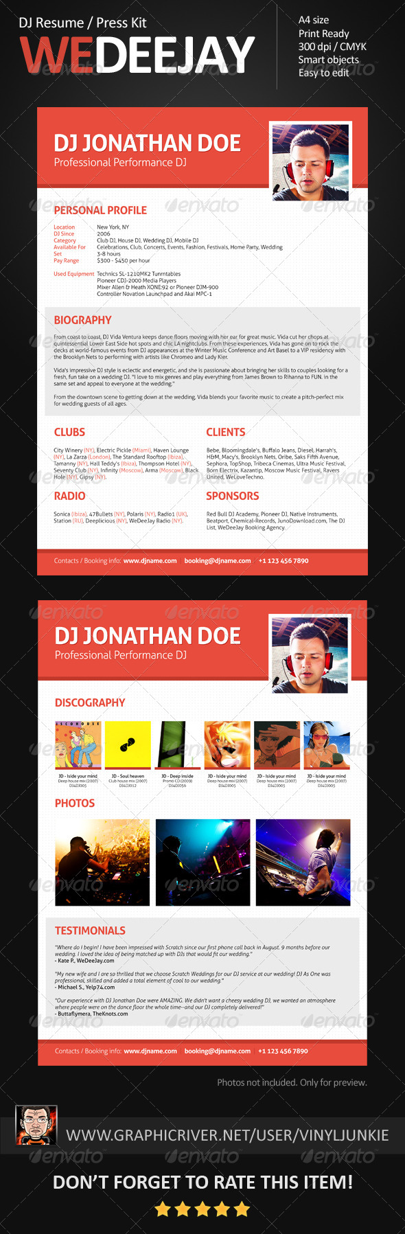 Dj Booking Graphics Designs Templates From Graphicriver