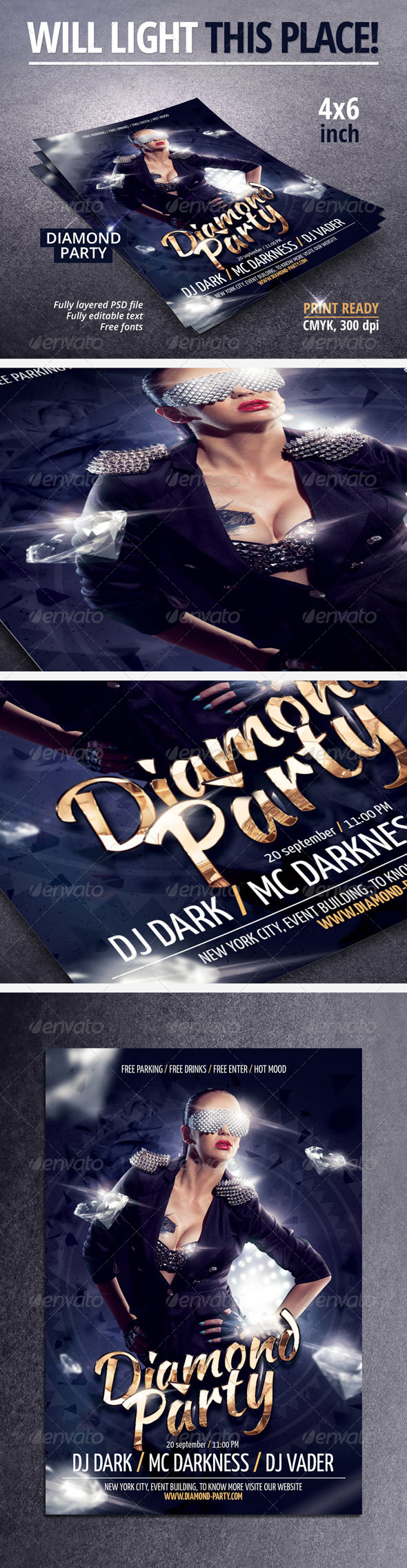 Diamond Party Flyer - Clubs & Parties Events