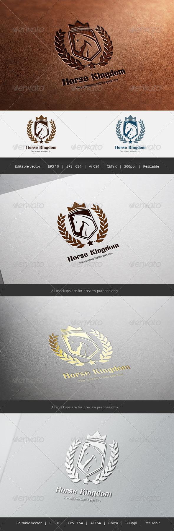 Horse Kingdom Logo - Crests Logo Templates