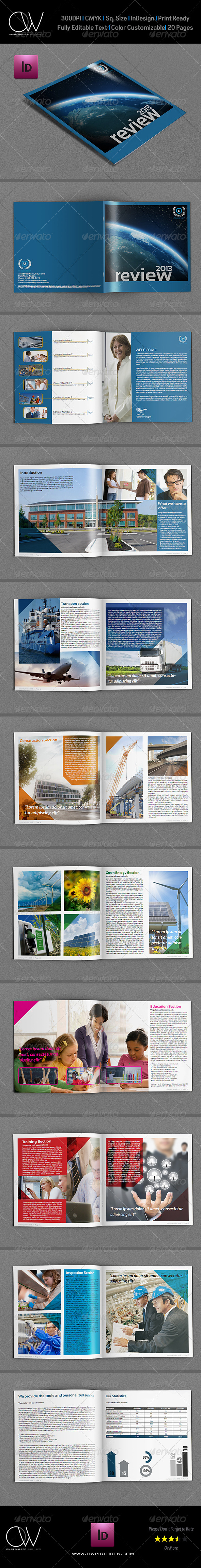Company Brochure Template Vol.7 - 20 Pages - Brochures Print Templates