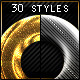 Metallic Chrome Gold steel - Photoshop Styles  - GraphicRiver Item for Sale
