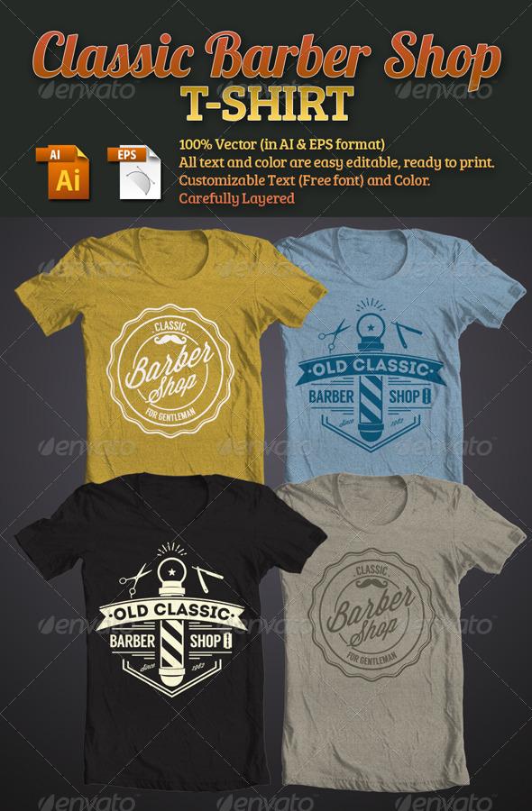 Classic Barber Shop T-Shirt - T-Shirts