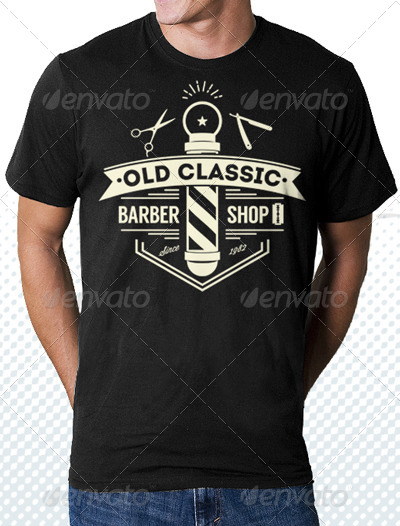 classic barber shop tshirt by tiarprayoga graphicriver