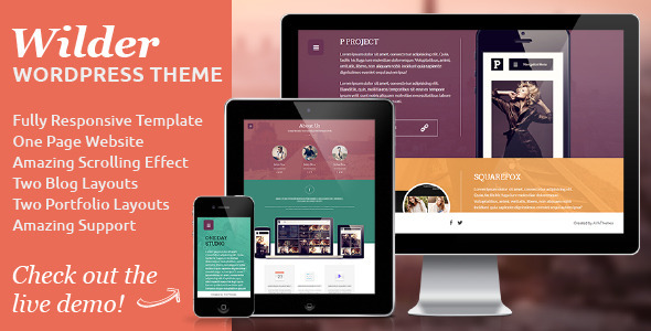 Wilder – Flat One Page Responsive WordPress Theme