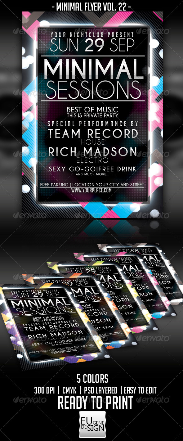 Minimal Flyer Vol. 22 - Clubs & Parties Events