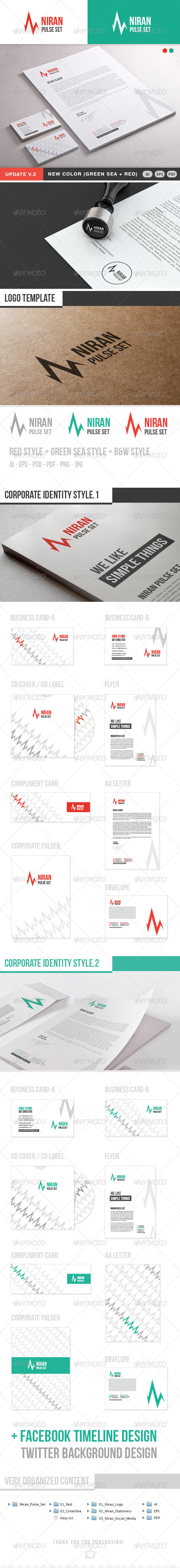 Niran Pulse Stationery - Stationery Print Templates