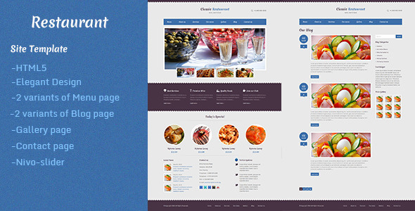Restaurant - Retail Site Templates
