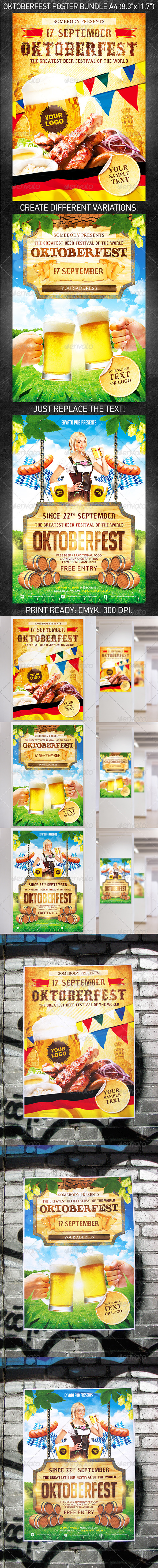 Oktoberfest Festival Poster Bundle - Holidays Events