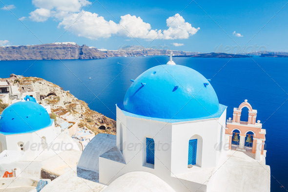 Santorini Island Greece - Stock Photo - Images