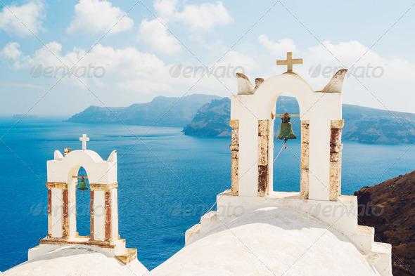 Santorini Island Greece - Stock Photo - Images