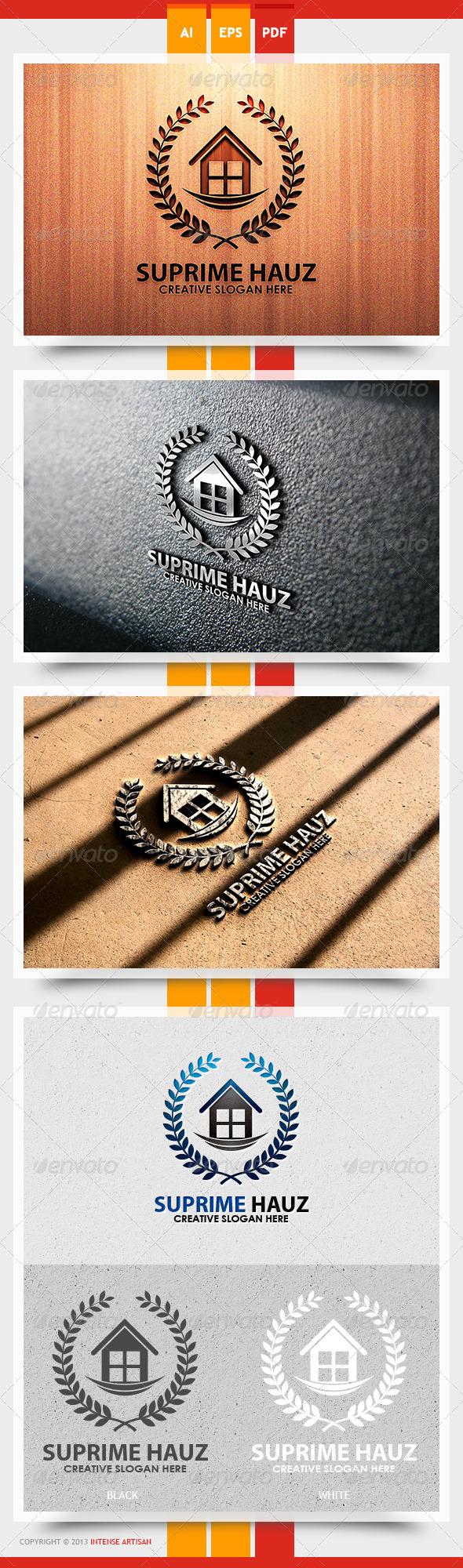 Supreme Hauz Logo Template - Buildings Logo Templates