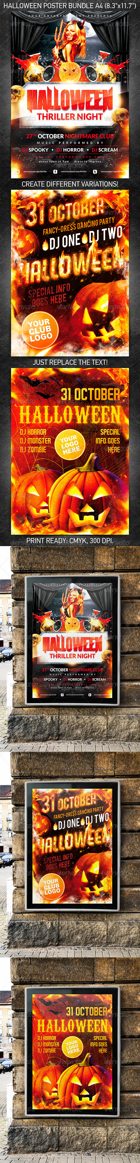 Halloween Party Poster Bundle - Holidays Events